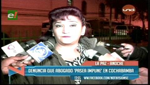 Esposa de Eduardo León denuncia que abogado Sánchez Peña estuvo en Bolivia por las fiestas de fin de año