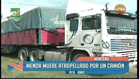 Portachuelo: Menor muere arrollado por un camión