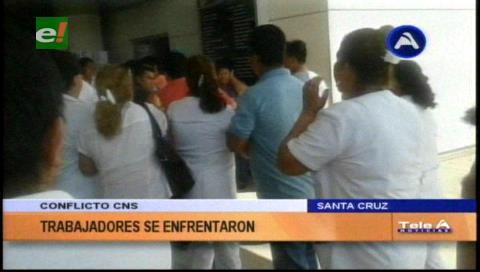 Conflicto en la CNS: Trabajadores se agarraron a golpes