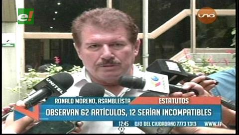 Santa Cruz: 12 artículos del Estatuto son inconstitucionales