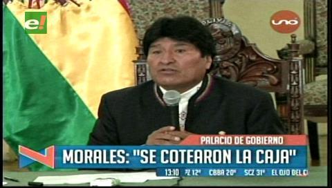 Evo Morales denuncia que dirigentes de la COB realizan cuoteos en la CNS