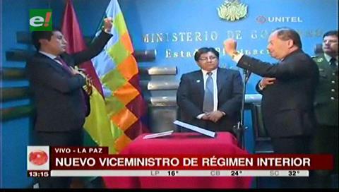 Quiroga asume como nuevo viceministro de Régimen Interior