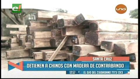 Detienen a chinos con madera de contrabando
