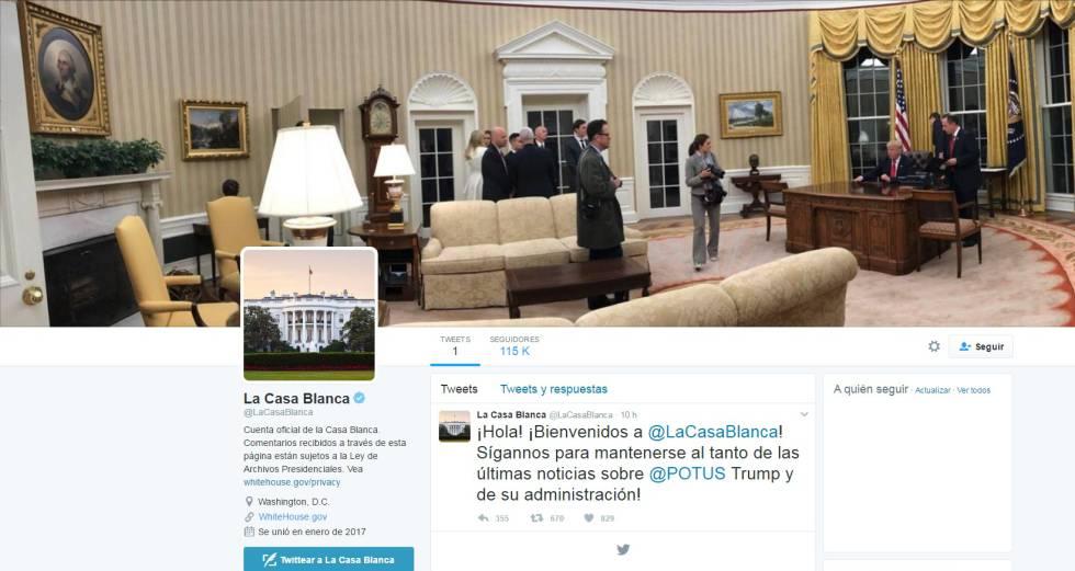 Así se ve la nueva cuenta de la Casa Blanca en Español.