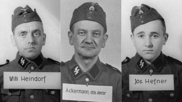 Willi Heindorf , un veterano de guerra condecorado; Albin Ackermann, un mesero que entró en el ejército en 1941; el también croata Josef Hefner