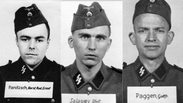 Horst Panitzsch, miembro e las juventudes nazis transferido en 1944 a las SS; Walter Salawey, condenado por crímenes de guerra en 1948; Gottfried Paggen, con 47 años era uno de los guardias más viejos de Auschwitz