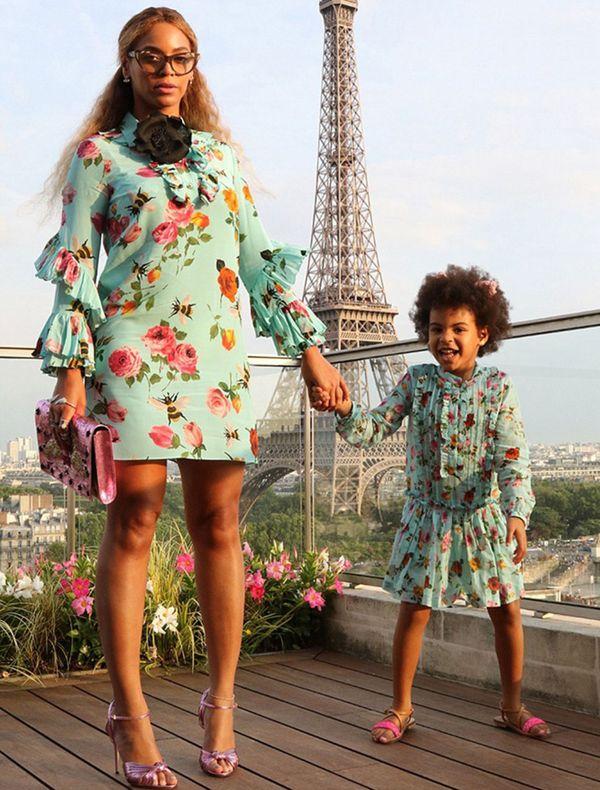 Beyoncé con su pequeña hija Blue Ivy