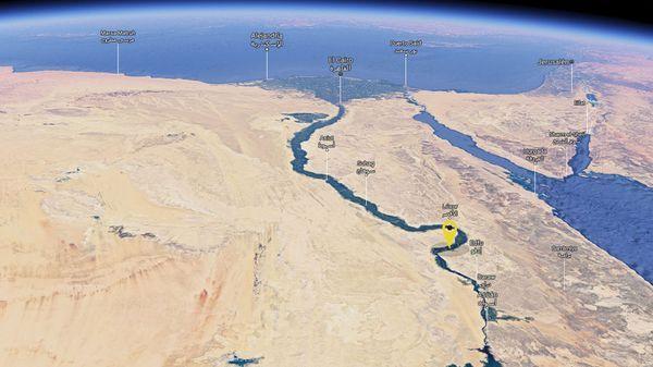 Lugar donde se encontró la tumba de Khonsu, en Luxor, Egipto