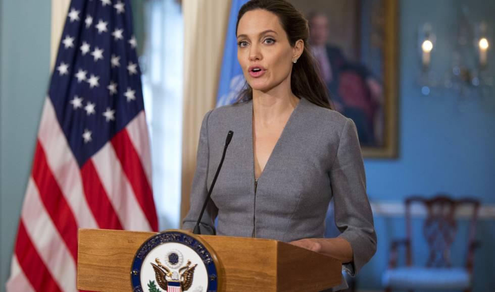 Angelina Jolie, hablando de la crisis migratoria el pasado 20 de junio de 2016.
