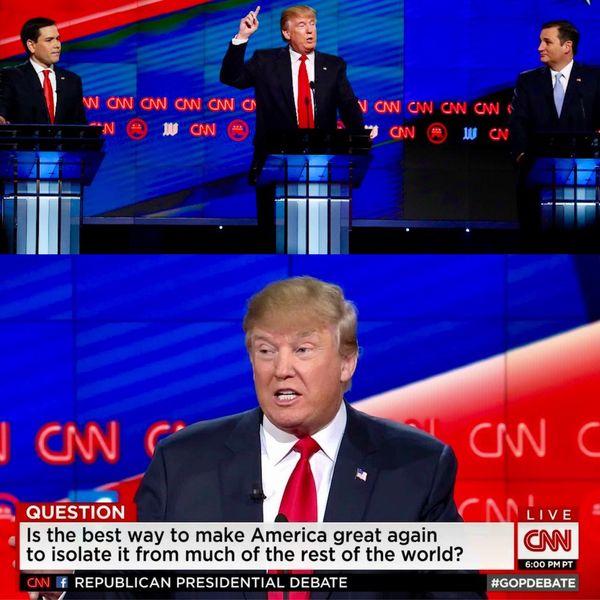 """El exitoso pasado como estrella del reality show """"The Apprentice"""", sumado a una innovadora propuesta política en la que se posicionó como un jugador ajeno al mundo de la política, hicieron que resultase imposible apartar los ojos de la pantalla durante las acaloradas primarias republicanas"""