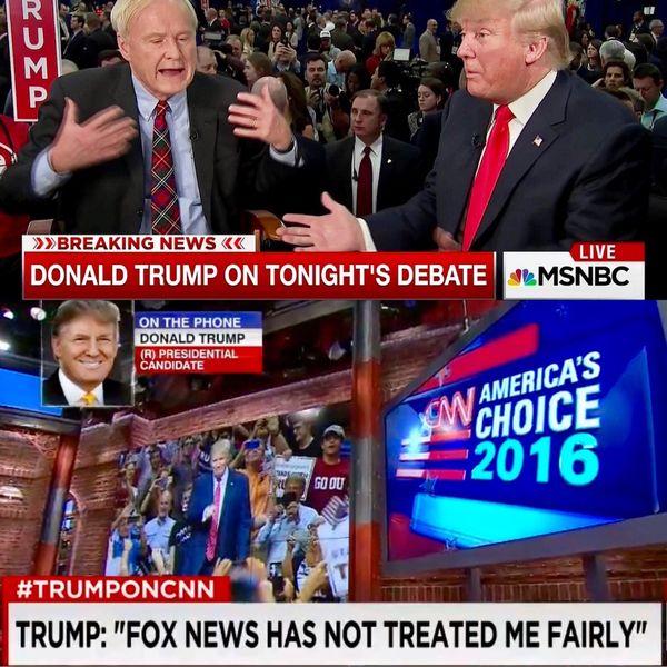 Cadenas como CNN y MSNBC que apostaban al triunfo seguro de Hillary Clinton ofrecían una cobertura prácticamente continua de todos los movimientos del entonces candidato Donald Trump
