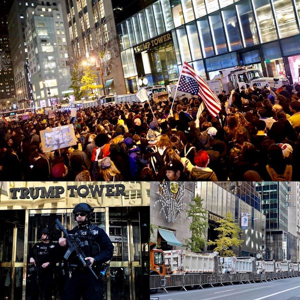El edificio ubicado en la Quinta Avenida se convirtió desde el momento de la victoria del presidente Trump en sede de masivas protestas en contra de la nueva administración, lo que obligó a restringir el acceso vehicular y peatonal en la zona