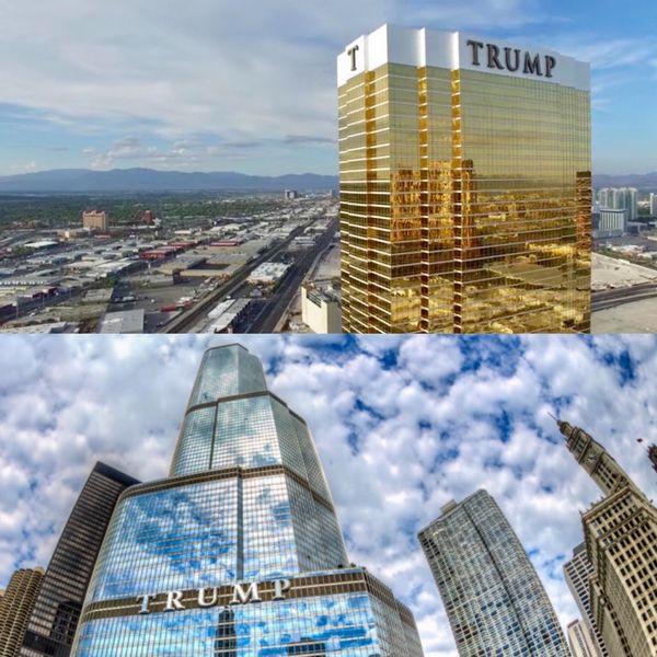 """Las torres Trump de Las Vegas y Chicago no logran alcanzar el nivel de iconicidad del edificio original construido en la """"Gran Manzana"""" pero son un símbolo incuestionable del poderío inmobiliario del hoy presidente de los Estados Unidos"""