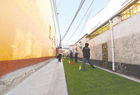 Observación. Panamerican School improvisa espacio de recreación, 2016.