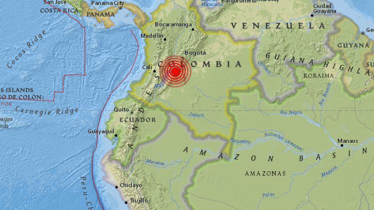 Un sismo de magnitud 5,6 sacude Colombia