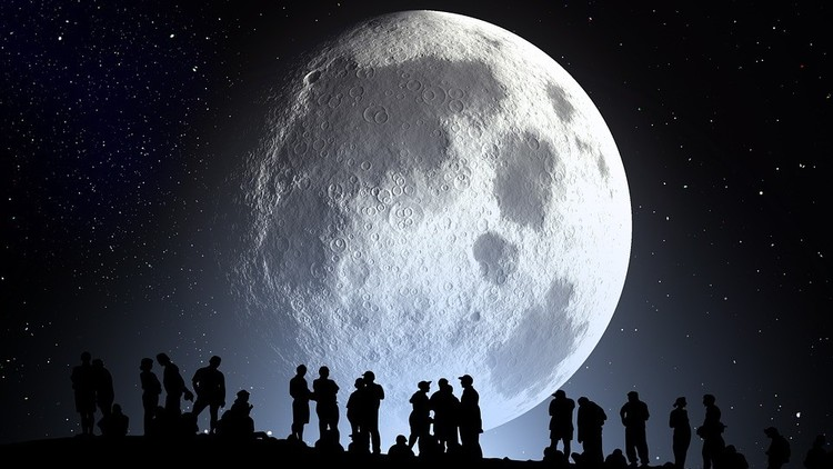 Este viernes la luna se pondrá azul — Atentos al cielo