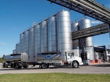Planta industrial de la empresa láctea argentina SanCor.