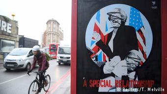 También la visita de Theresa May a Washington fue duramente criticada en el país.(Reuters/T. Melville)