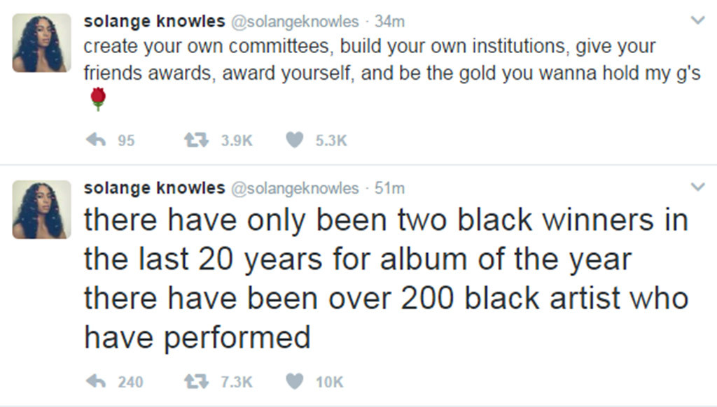 Solange Knowles, Twitter