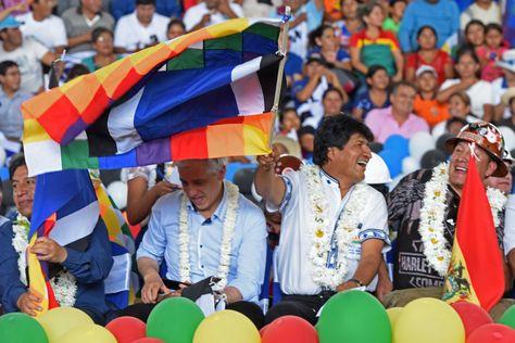 El presidente Evo Morales, durante su participación en el noveno congreso del MAS en Montero, Santa Cruz. Foto: ABI - archivo