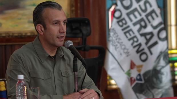 El vicepresidente Tareck El Aissami, en un acto oficial este martes en Caracas