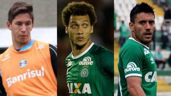 Jackson Follmann, Helio Neto y Alan Ruschel fueron los tres futbolistas que sobrevivieron a la tragedia