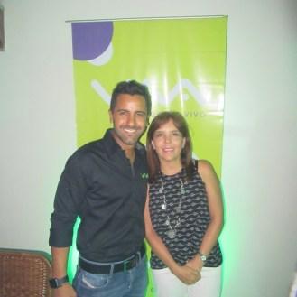 Carlos Rocabado junto a Isabel Araníbar