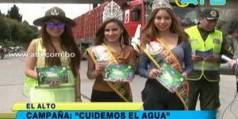 Inician campaña Cuidemos el Agua en El Alto