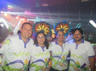 Julio Casanova, María Bolivia Bernal, Kathia Salas y Joaquín Franco