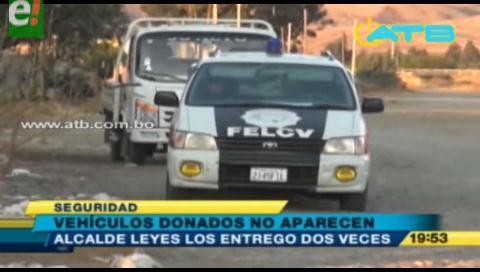 Vehículos entregados a la Policía están desaparecidos
