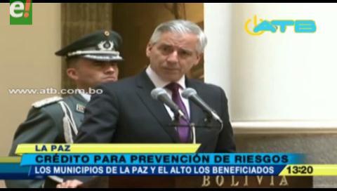 Promulgan ley que otorga crédito a La Paz y El Alto para desastres