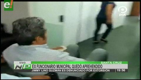 Exfuncionario municipal es aprehendido acusado de extorsión