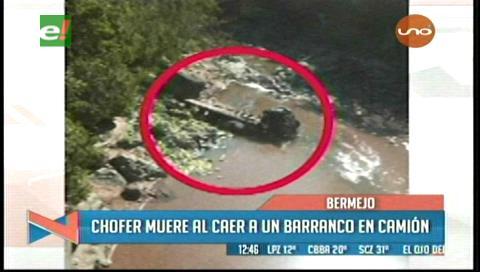 Camión se embarranca y deja un muerto cerca a Bermejo