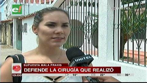Mujer acusada de mala praxis denuncia que buscan presionarla económicamente