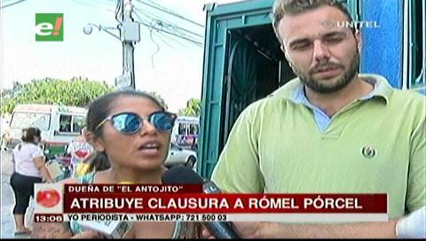 Mujer dice que cerraron su local por ser competencia del restaurante del concejal Porcel