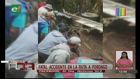 Fatal accidente deja un muerto en la ruta a Porongo