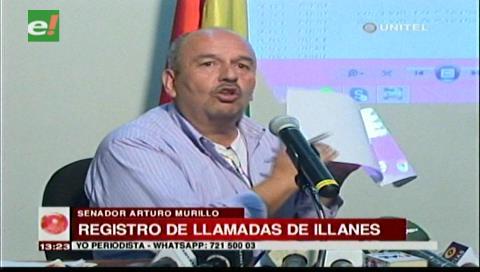Senador Murillo muestra extracto de llamadas: Illanes habría pedido auxilio a Quintana