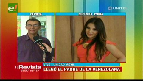 Llegó desde Venezuela el padre de la joven que perdió un brazo en un accidente de tránsito