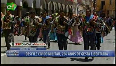 Orureños marcharon con el tema The Final Countdown de Europe