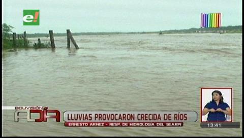 Lluvias del último fin de semana aumentó el caudal de los ríos en Santa Cruz