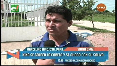 Santa Cruz: Niña muere al resbalar y golpearse la nuca