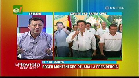 Roger Montenegro hizo una evaluación de su gestión como presidente del Comité Cívico cruceño