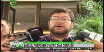 """Samuel lamenta que el Gobierno use de """"mensajera"""" a Gabriela Zapata"""