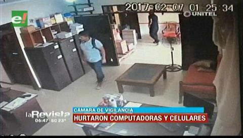 Cámara de seguridad capta el robo en un negocio de la zona de los Pozos
