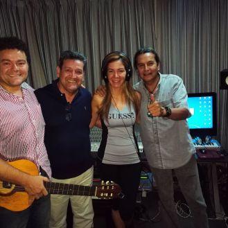 Juan Carlos Narbaja, Tito Monasterio, Vanessa Añez y Glen Vargas