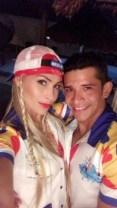 Romina Rocamonje con Roger Miserendino, en Tradición Carnavalera