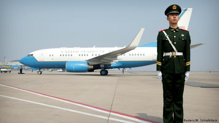 China Ankunft US-Außenminister Rex Tillerson (Reuters/M. Schiefelbein)