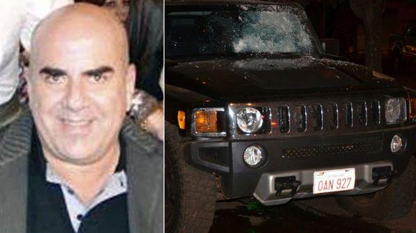 Jorge Rafaat Toumani y la Hammer en la que lo mataron (Gentileza ABC)