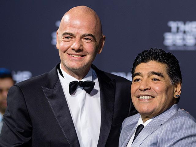 """Maradona: """"Si Tinelli no se va renuncio a la FIFA, no sabe nada de fútbol"""""""