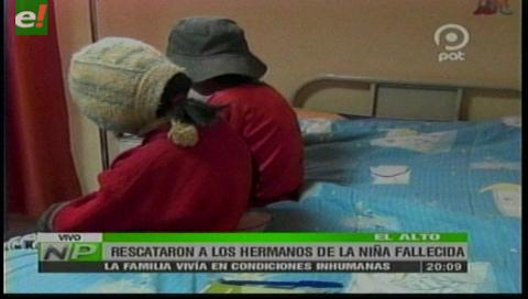 Niña muere de hambre en El Alto y su familia sobrevive en extrema pobreza